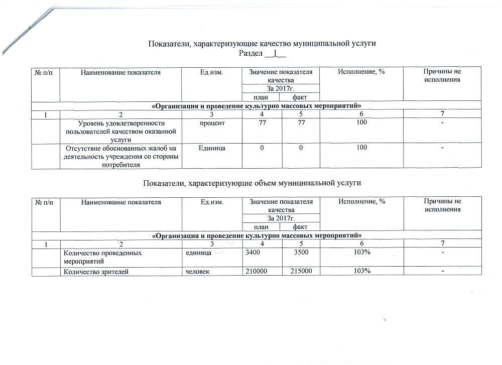 Отчет об исполнении муниципального задания за 2017 год - 2