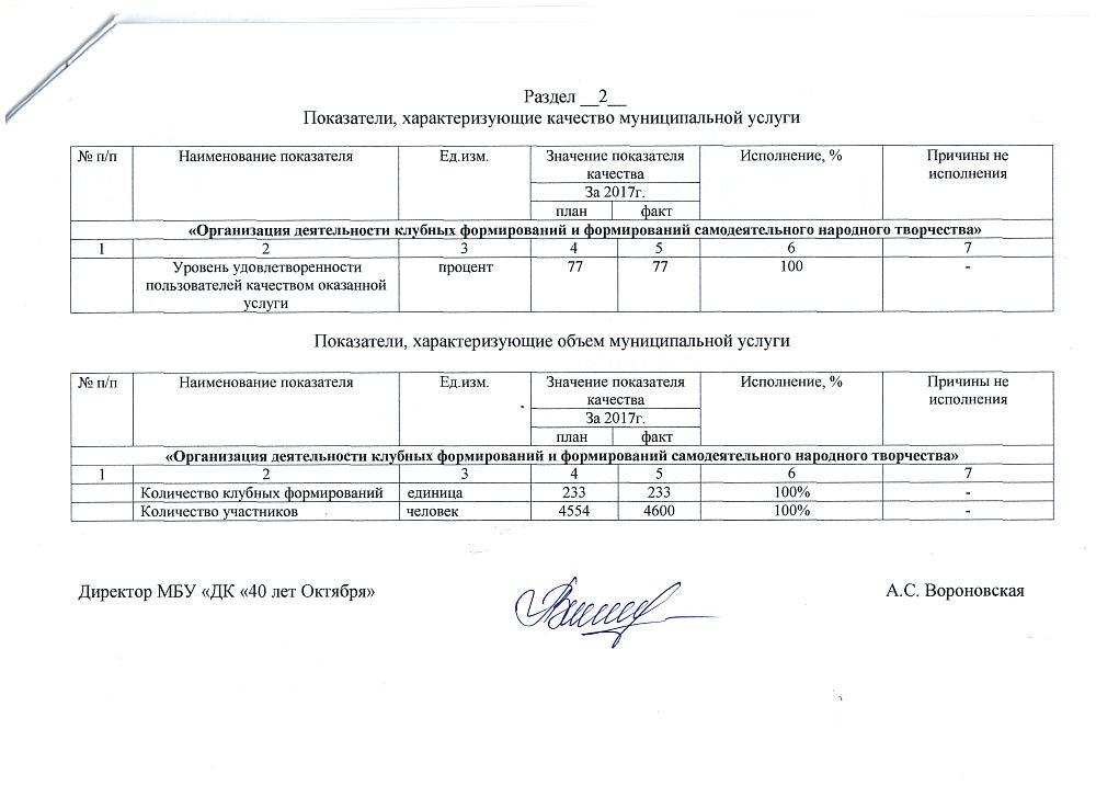 Отчет об исполнении муниципального задания за 2017 год - 3