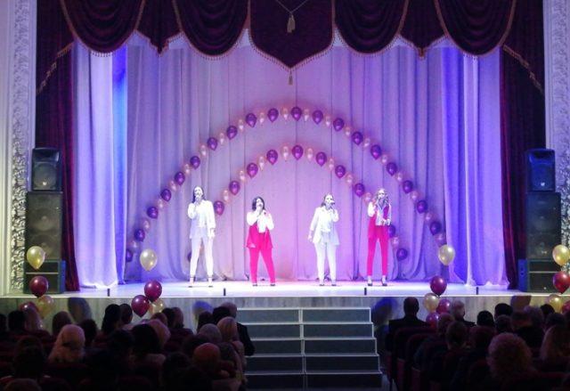 Обновлённый зал в Доме культуры п. Верхнебаканский